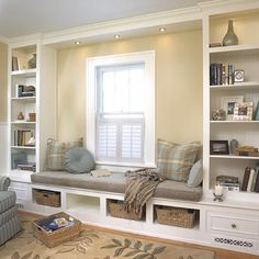 Would love this for my master bedroom. Bookshelves surrounding my two windows...nice retreat area!