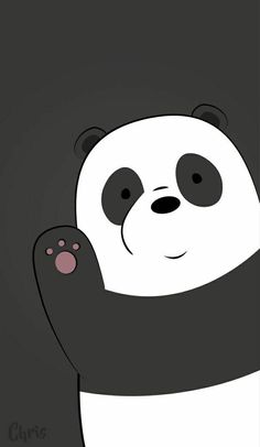 Grey Panda Wallpaper Cartoon Animated And People wallpaper for android mobile, Pin By Nicole Andrea Gene Durante On We Bare Bears Phone -- -- grey