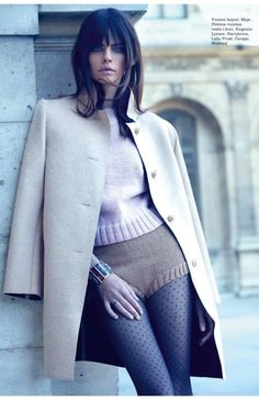 Daniela Freitas models retro style for Elle Croatia September 2015 by Rocío Ramos [fashion]
