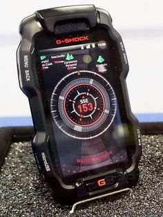 Would you buy a Casio G-Shock phone running Android? Casio hopes you will. The company is currently in the process of developing a rugged G-Shock phone that will be able to withstand a number of th… G Shock Watches, Casio G Shock, Cool Watches, Watches For Men, Black Watches, Wrist Watches, Cool Technology, Technology Gadgets, Android Technology
