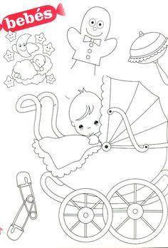 Baby ~ Baby buggie ~ Baby Blanket ~ Diaper Pins ~ Rattle