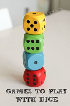Games to Play with Dice – In The Playroom So many ideas for dice games, including simple classic childhood games, and printable games to play with dice