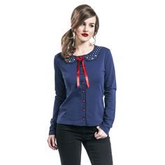 "Cardigan donna ""Lovely Marine"" del brand #PussyDeluxe."