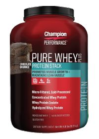 Pure Whey Plus - Chocolate Brownie by Champion Nutrition - Buy Pure Whey Plus - Chocolate Brownie 4.8 Powder at the vitamin shoppe