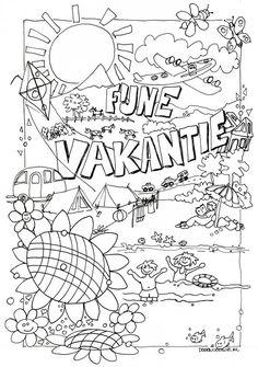 Leuke kleurplaat voor je kids. Print hem uit en kleuren maar :-) Ik wens jullie allemaal een hele fijne zomervakantie! x Jel