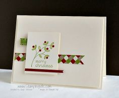 Quick and easy Christmas Card with clean and simple design