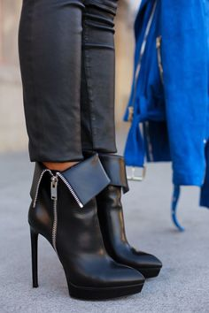 Yves Saint Laurent Janis Boots ~ 25 High Fashion Heels on the Street that You Absolutely Must See - Style Estate -