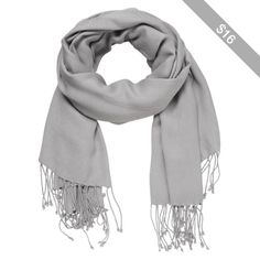 maurices Solid Scarf Wrap With Fringe