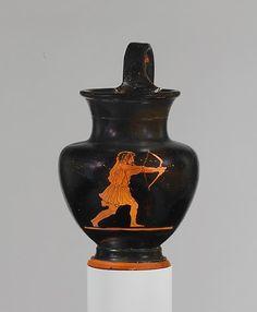 Terracotta oinochoe (jug)  Attributed to the Disney Painter  Period: Classical Date: ca. 430–420 B.C. Culture: Greek, Attic