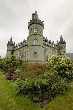 Inveraray castle, Argyll is home of the Duke of Argyll, Chief of the Clan Campbell, on the west coast of Scotland