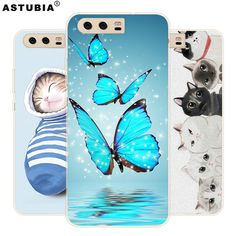 For Huawei P10 Case Brand TPU Soft Silicone Painting Matte Cover For Huawei P10 Lite Case Fashion Phone Cases Protective Case #Affiliate
