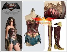 Custom Size Batman v Superman Wonder Woman Diana Prince Cosplay Costume Shoes…