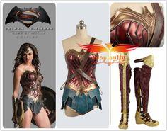 Custom Size Batman v Superman Wonder Woman Diana Prince Cosplay Costume Shoes…