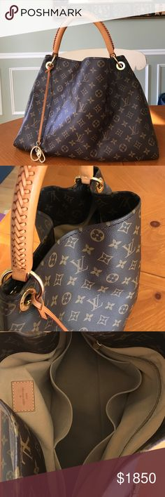 Louis Vuitton Artsy MM Louis Vuitton Artsy MM 100% Authentic Like new condition.                                                        Exterior: Brown monogram coated canvas                        Interior: Beige Alcantara lining with 7 pockets      Gold hardware, strap is braided with stitching detail. Louis Vuitton Bags Shoulder Bags