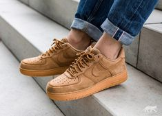 uk availability 89636 02b35 Nike    Nike Air Force 1 07 WB (Flax   Flax - Gum Light Brown - Outdoor  Green)
