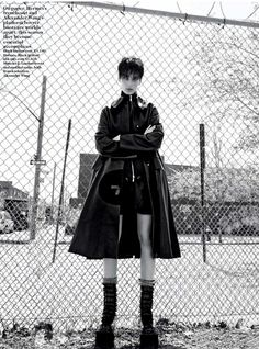 Julia Bergshoeff wears fall coats for Vogue UK September 2015 shot by Patrick Demarchelier [editorial]