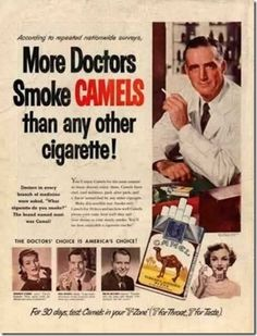 See how people have been indoctrinated to smoke?  All to make money for the company!  Growing up with a car and house full of smoking adults who later had heart and lung problems, you can see why I hate cigarettes!