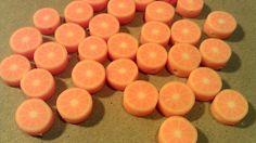 Orange Fruit Slice Polymer Kawaii Beads by HandcraftedCreationz