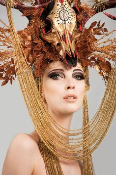 gold skull headdress  http://www.etsy.com/listing/95317852/ready-to-ship-amazing-deer-antler?ref=tre-2682966772-1