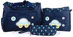 La vogue Bolso/Bolsa/Bolsillo Maternal Bebé Para Carrito Biberón Colchoneta Pañal Azul Oscuro