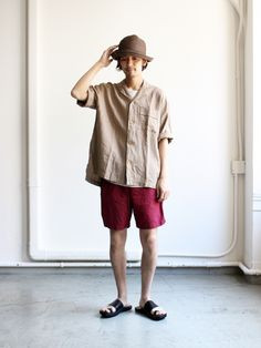 BASISBROEK ANNY -Cotton/Silk Japanese Outfits, Street Style Looks, Cotton Silk, Asian Men, Casual Wear, Shirt Style, Going Out, Pose, Normcore