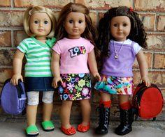"Dream. Dress. Play.: Scrap Saver 18"" Doll Straight Skirt: FREE PDF Pattern >> http://daydreamdollboutique.blogspot.com/2012/07/scrap-saver-18-straight-doll-skirt-free.html"