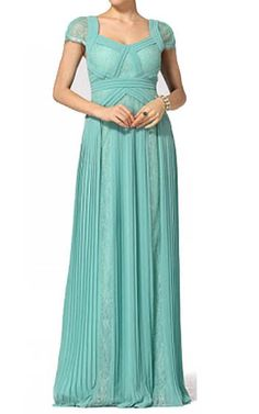 Green Bcbg Aris Pleated Evening GownOutlet