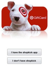 Target: New ShopkickCoupons + cash in points for gift cards #target #coupons