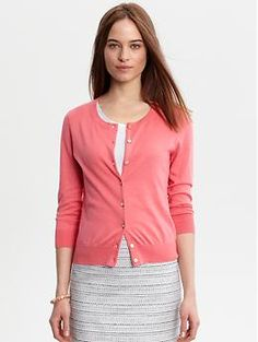 Sunblaze cardi from Banana-would look great over the Jcrew polka dot blouse