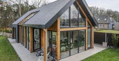 Architecture – Enjoy the Great Outdoors! Modern Small House Design, Modern Barn House, Barn House Conversion, Small Cottage Homes, House On Stilts, Bungalow Homes, Modern Farmhouse Exterior, Forest House, Shed Homes