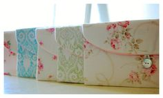 Set of five  5 Bridesmaid Gift Set Bridesmaid Clutch by hoganfe, $80.00