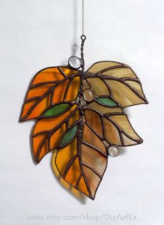 ***MADE TO ORDER*** *The item will be ready in about 1-4 weeks after payment. Vitrage Pendant Autumn leave. Leaves Of Stained glass. Handmade. Home decor. DizArtEx. Made to order. Type: Stained Glass (pendant, decor); Motive: autumn; Size: 17,0x22,0 sm; 6,7x8,7 inch; Here you may find