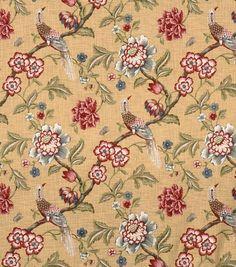 Home Decor Print Fabric-Jaclyn Smith France-Crimson