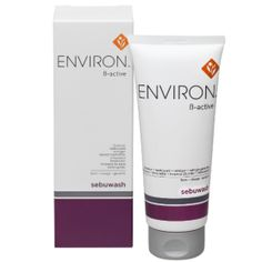 Environ B-Active Sebuwash - Environ's Sebuwash is a mild gel cleanser with a low foaming activity. Containing Salicylic Acid, Tea Tree Oil & Soy Protein it is mildly exfoliating and antiseptic. It helps to hydrate the skin and maintain a natural waterproof barrier.