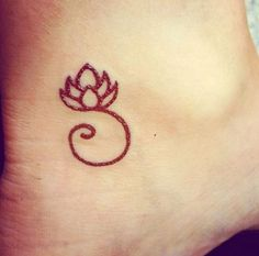 20 Cute Small Meaningful Tattoos for Women - lotus tattoo - foot tattoos -female tattoos- cute tattoos for girls