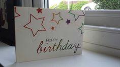 Die cut Happy Birthday card