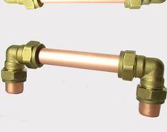 Modern Copper Bar pull/Handle MULTIPLE SIZES by ProperCopperDesign