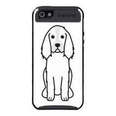English Springer Spaniel Dog Cartoon Cover For iPhone 5