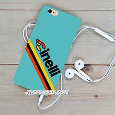 Cinelli Stripe Blue iPhone Case 4 4s 5 5s 5c 6 6s Plus Hard Case Cover