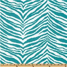 Turquoise Zebra -- Premier Prints Tunisia True Turquoise  Item Number: UJ-205 Our Price: $7.48 per Yard -Compare At: $12.99 per Yard