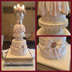 Elegant bridal cake