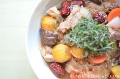 Andong Jjimdak 안동 찜닭 (Spicy Braised Chicken w Vegetables) - MYKOREANEATS