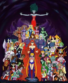 Dark Kingdom Invasion - WIP by ~Dark-elfa on deviantART Sailor Moon Villains, Sailor Moon Manga, Sailor Moon Art, Sailor Moon Crystal, Disney Marvel, Pokemon, Poster Anime, Thor, Sailor Saturno