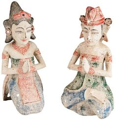 Balinesisches Paar für Glück - aus Holz - 30 cm Buddha, Shopping, Collection, Serenity, Statues, Figurines, Couple, Culture, Timber Wood