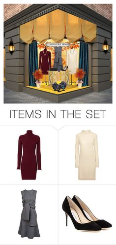 """""""The Cashmere Shop"""" by lois-boyce-flack ❤ liked on Polyvore featuring art, artexpression and windowdisplay"""