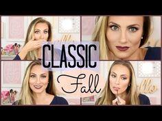 Classic Fall Makeup Look Tutorial - YouTube