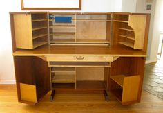 Mid century Danish folding desk/cabinet by VintageVisions11