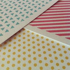 New geometric gocco prints, hot off the press and on sale soon!