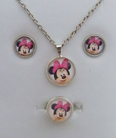 Set for children with Minnie Mouse-Design - by Be-Trend Bisutería