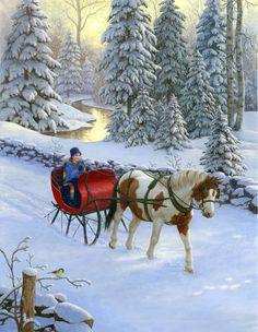 Dashing through the snow in a one horse open sleigh...